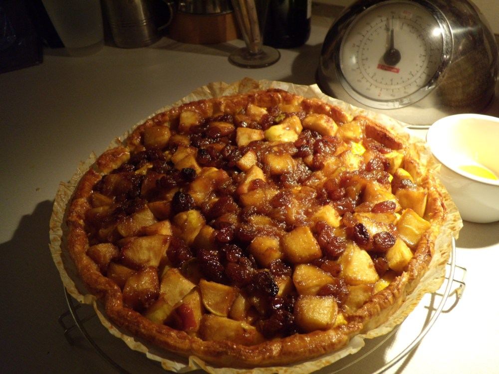 Simpele pudding-appeltaart (1/2)