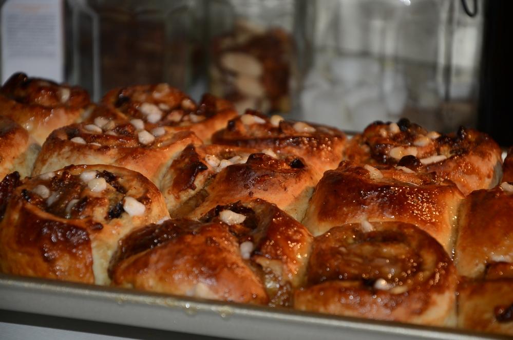 Koffiekoeken met parelsuiker, vijgen en Pecan-noten (5/6)