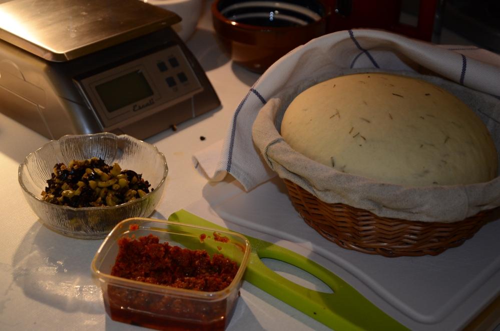 Focacciabroodjes met tomaat-auberginevulling (2/6)