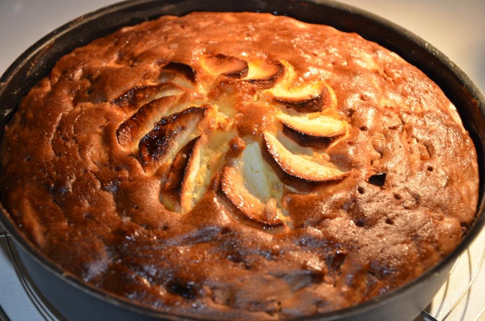 Pistachebrood met zure room /  appel-citroencake (2/6)