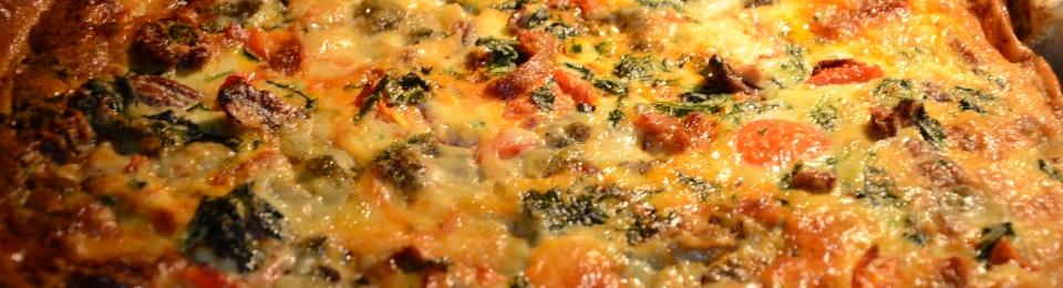 Spinazie-chorizo-taart