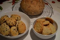 Cranberrybrood en koekjes