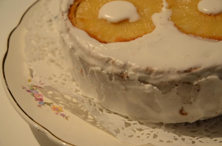 Vanillecake gemengd fruit